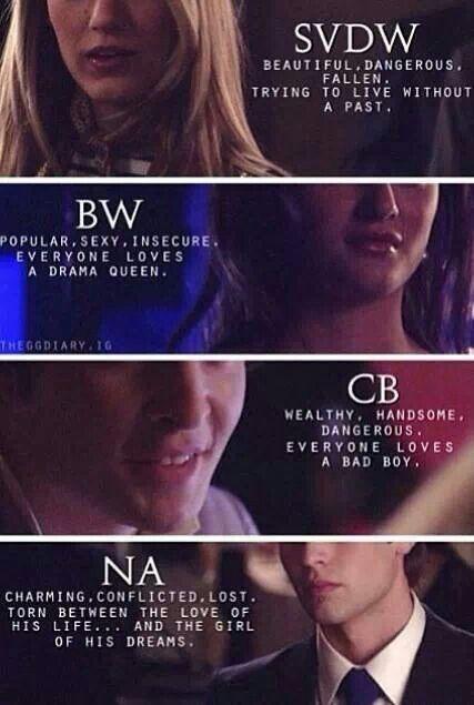 Nate, Blair, Serena, Chuck season one