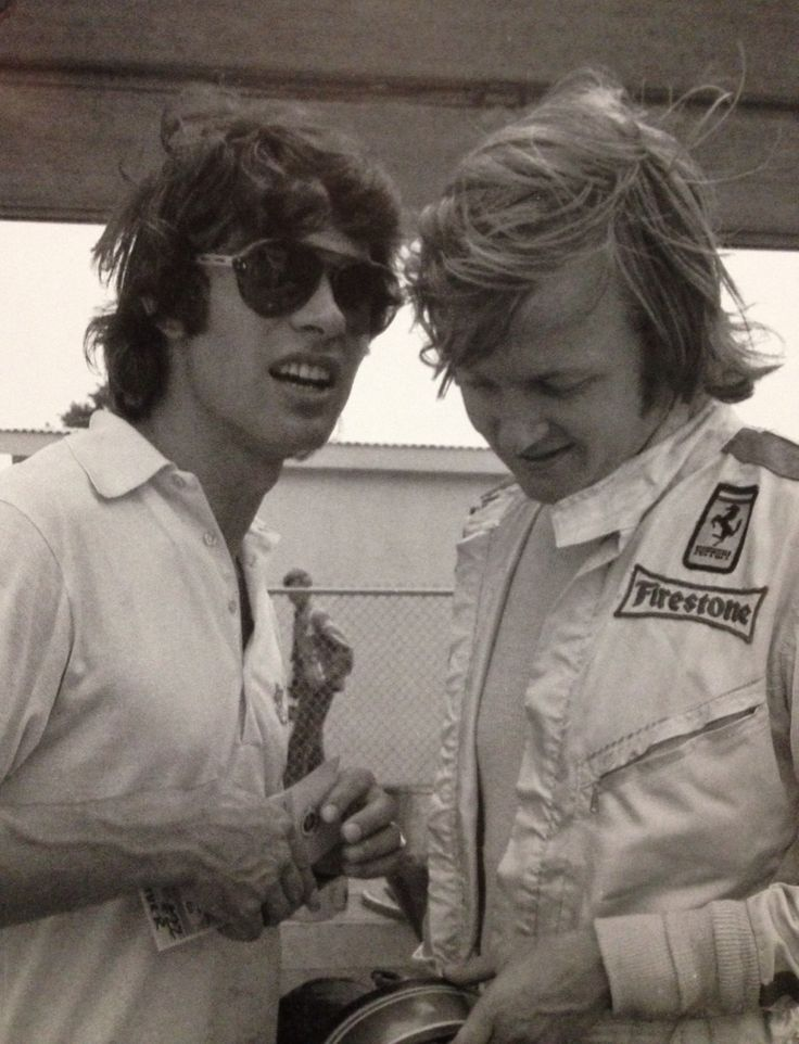 Francois Cevert with Ronnie Peterson - two highly gifted but unfortunate men who could have been World Champions
