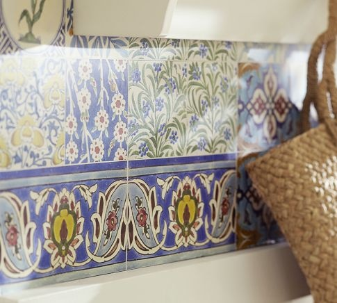 Moroccan Tile Wall Decal | Pottery Barn