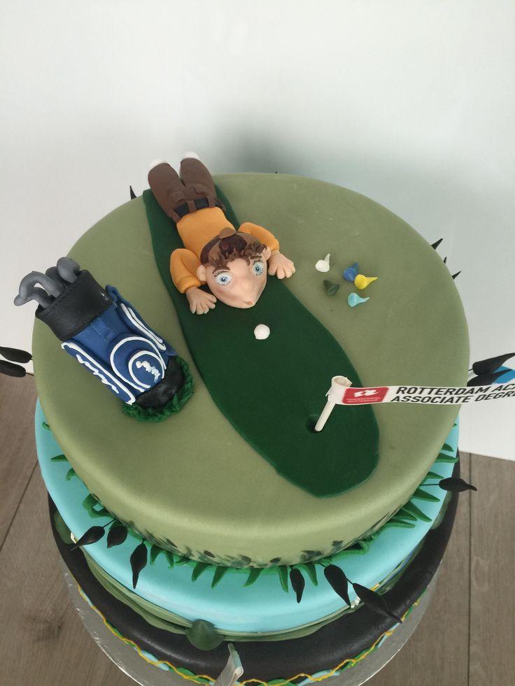 golf taart, golftaart
