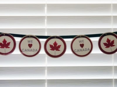 canada day garland. please feel free to use my graphics.
