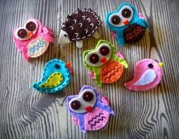 Image result for felt hair ties heart
