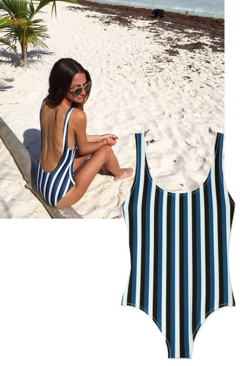 From The Man Repeller to Beyonce, shop the most fashionable Instagrams of the week here: Solid & Striped one-piece bathing suit
