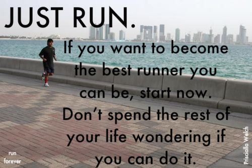 exactly. if you run, you are a runner.