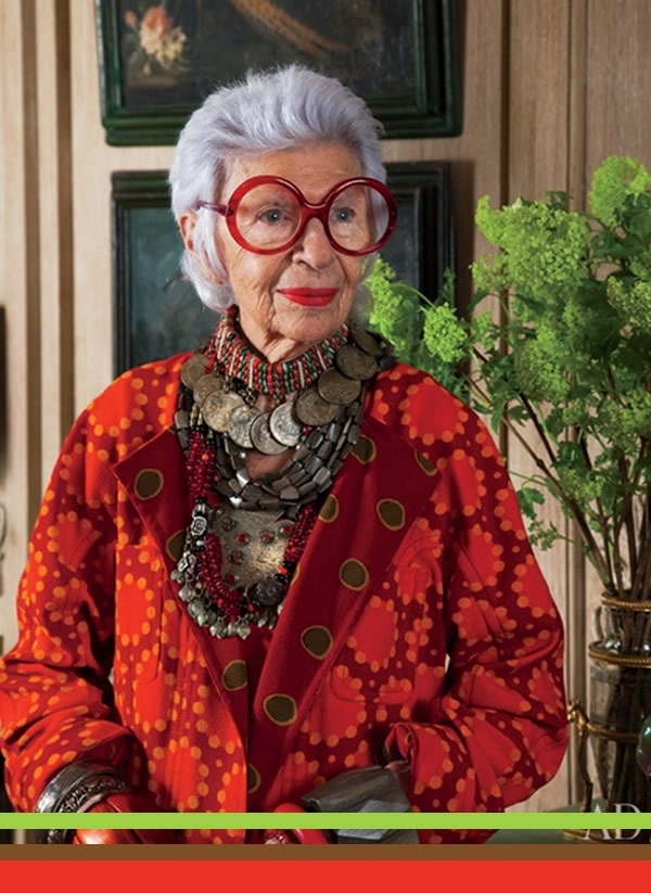 I would love to spend the day going through Iris Apfel's amazing wardrobe!
