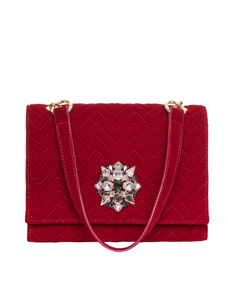 Mia Rosa Bag | Deep Red | Handbag
