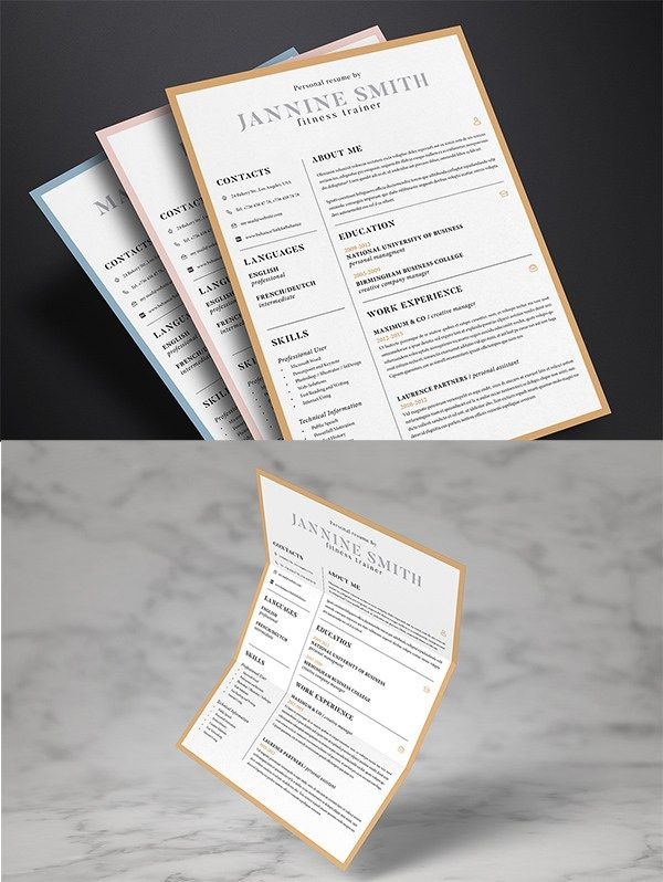 Free Clean Resume Template  #CV #Resume #PSD #Templates