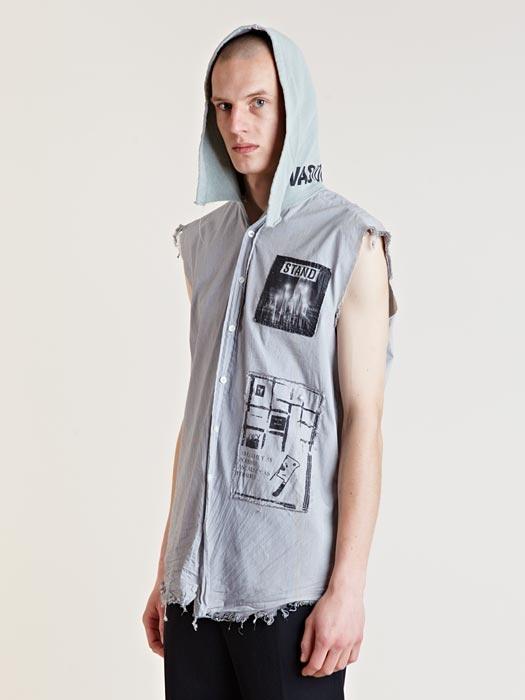 Raf Simons Archive SS02 Hooded Sleeveless Shirt | A R C H ...