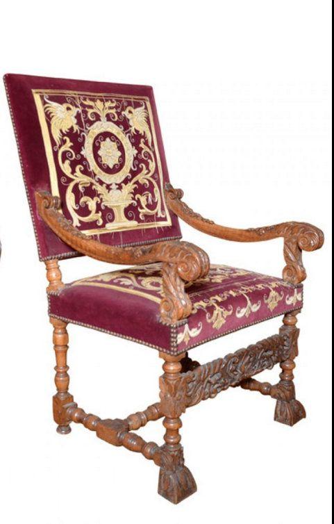 1000 images about gothic renaissance baroque furniture on pinterest auction armchairs. Black Bedroom Furniture Sets. Home Design Ideas