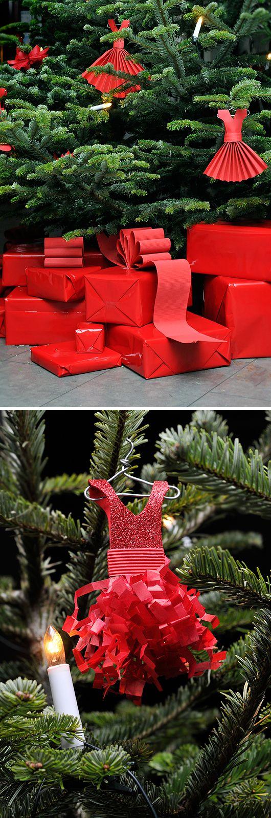 "I'm Soooo doing a ""red dress"" tree next Christmas!!"