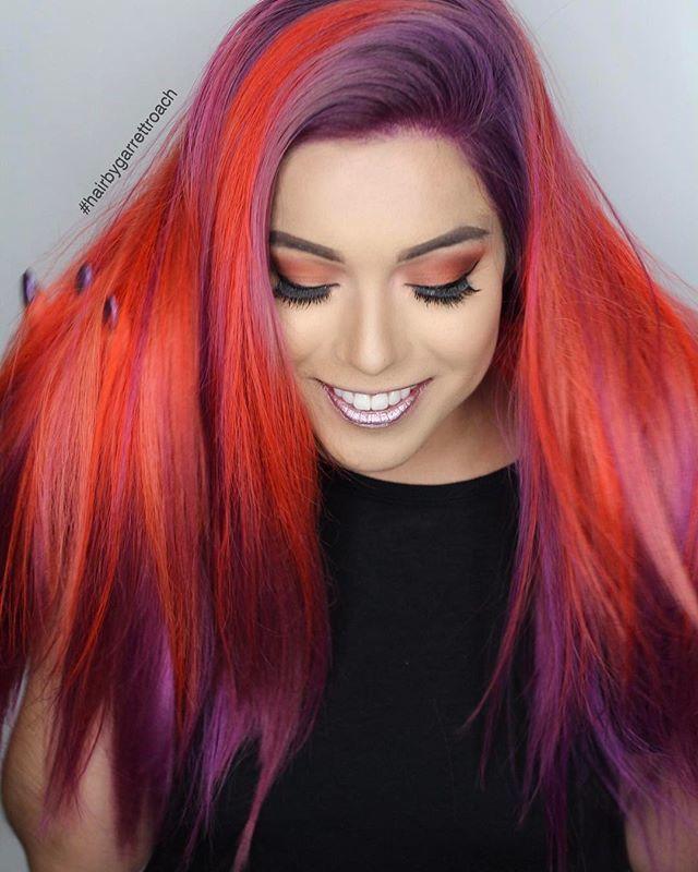 Bold + bright #UnicornHair using Pony, Bunny, Leeloo, and Neon Peach Via: @garrettkenroach @seirayadetta @domineeeeek