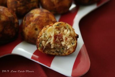 24/7 Low Carb Diner: Zucchini Pizza Poppers. Made in a cake pop maker, so they are quick and easy.