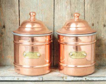 Copper Kitchen Canister Sets