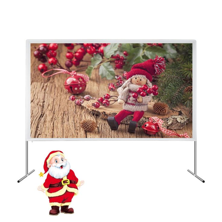 120 Inches 16:9 HD 4K Projector Screen Portable Foldaway Indoor Outdoor Movie Theater Projection Screen