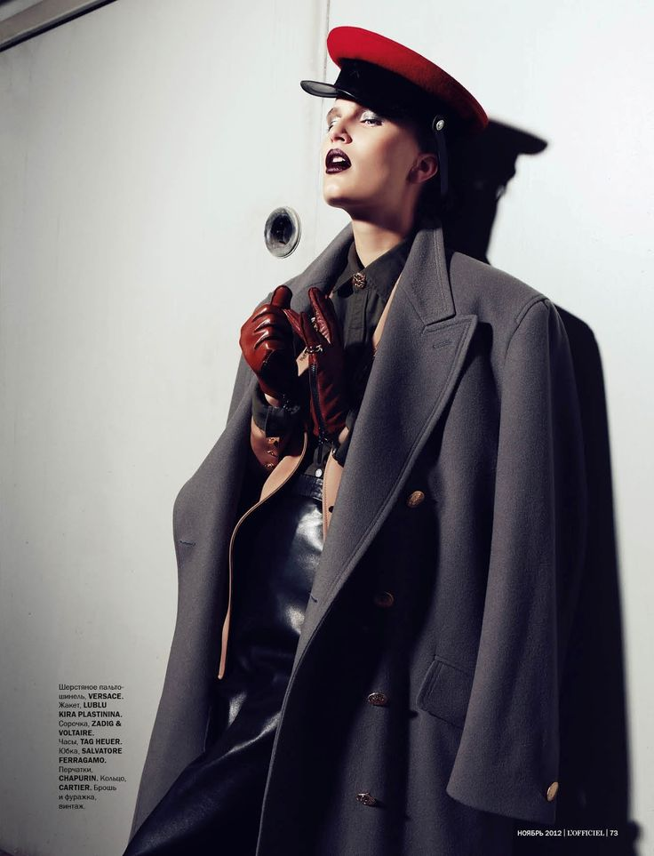 Alla Kostromichova by Natali Arefieva for L'Officiel Ukraine November 2012