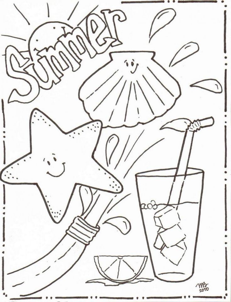 These Fun Summer Coloring Pages Or Sheet Are Great Boredom Busters For The Kids RV Camping Beach And American Flag Sheets