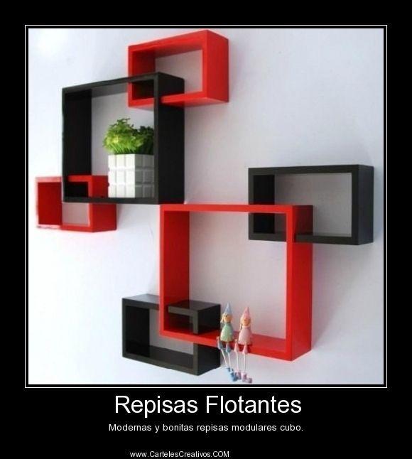 Repisas Flotantes Modernas y bonitas repisas modulares cubo.
