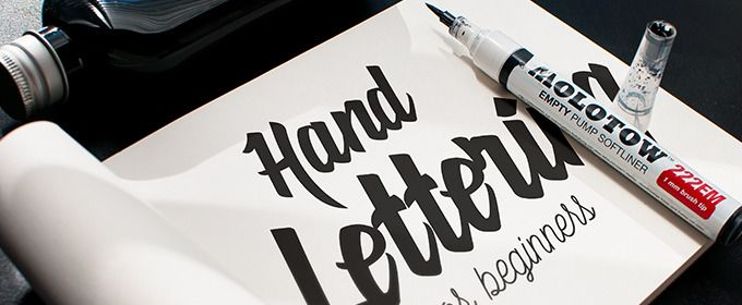 This is the title image from Creative Market's Hand Lettering for Beginners course.