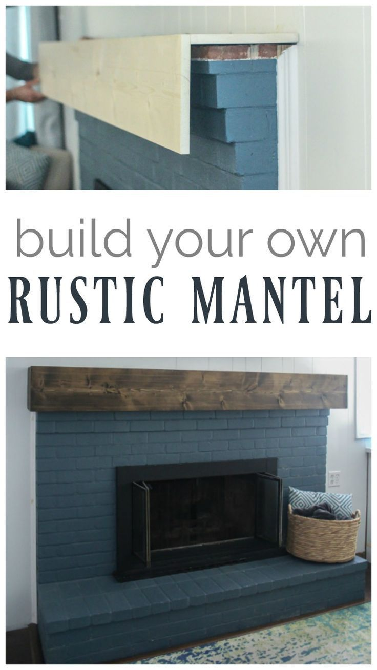 Learn how to build a simple diy fireplace mantel. This rustic fireplace mantel has the charm of reclaimed wood but is inexpensive and easy to make.