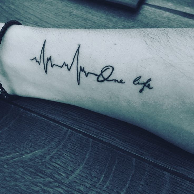 Vital sign one life tattoo pulse tattoo