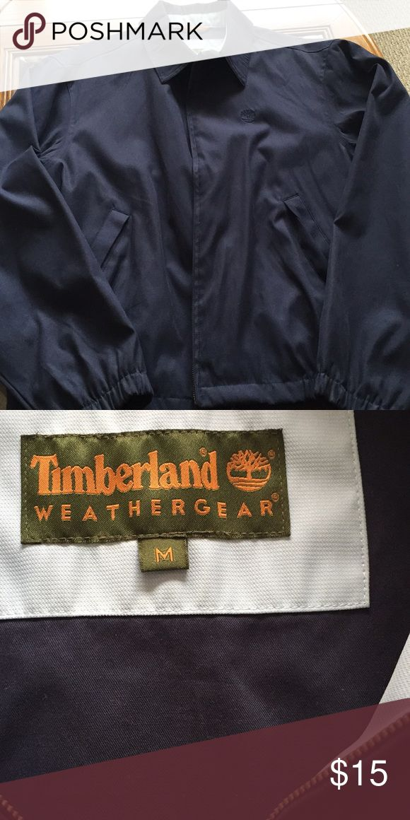 Vintage Mens Timberland navy blue jacket Great jacket for spring! Mens vintage jacket. In excellent condition with no rips or stains. Comes from smoke and pet free home Timberland Jackets & Coats