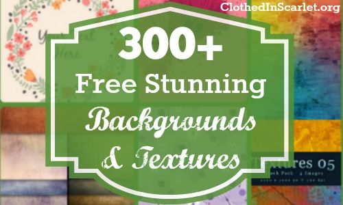 In today's post, I share hundreds of free stunning backgrounds and textures. Use them to create your own graphics or tile them for your website background.