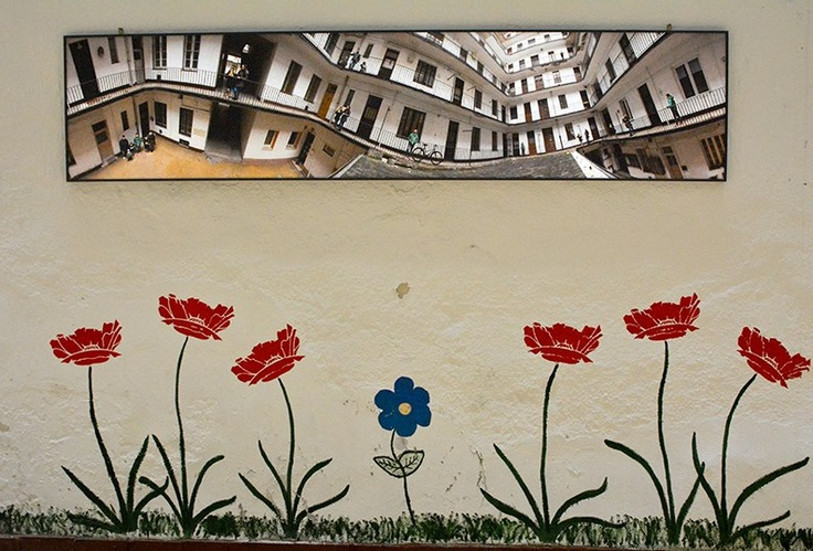 Flowers flowers on the wall...