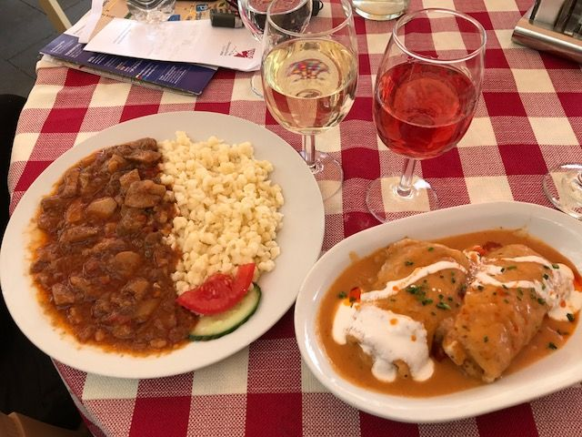 """Delicious Hungarian lunch from """"Vienna Day Trip: Sopron and the Pan-European Picnic."""""""