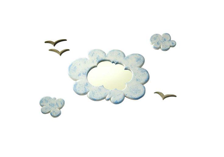 Childrens Fluffy Cloud Mirror :) xxx