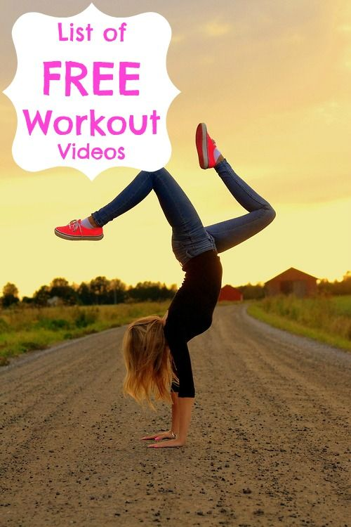 List of Free Workout Videos- sweet!!!