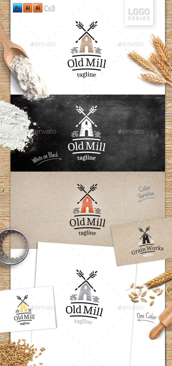 Old Mill Logo Template #design #logotype Download: http://graphicriver.net/item/old-mill/13355567?ref=ksioks