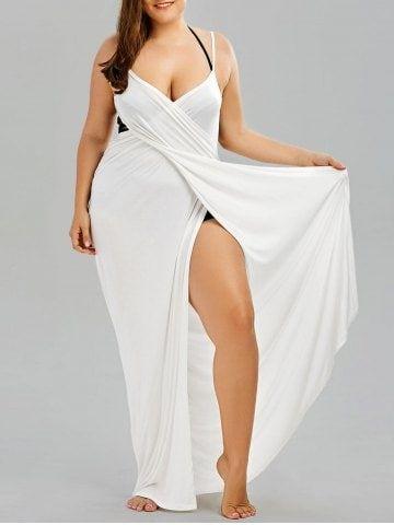 Plus Size Flowy Cover Up Wrap Dress 1