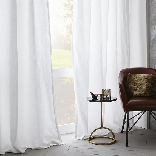 Belgian Flax Linen Curtain - White | west elm - http://www.westelm.com/products/belgian-linen-curtain-white-t1791/?pkey=cwindow-panels-curtains-shades