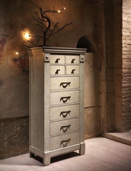 Испанская мебель ручной работы > Дизайнерская мебель > Коллекция Классика > Лола Гламур (Испания) Комод высокий LG4161