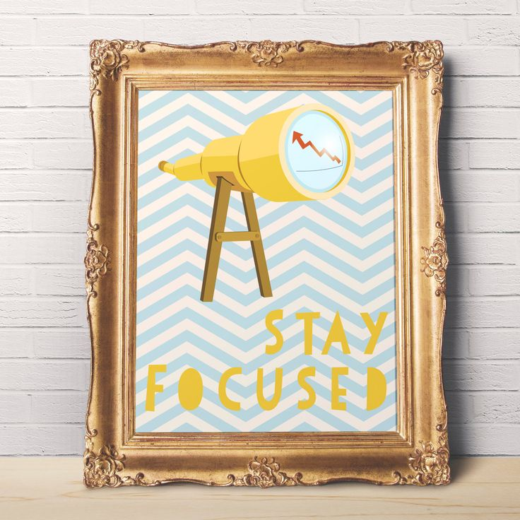 Stay Focused Motivational Wall Art to Print - Wall Decor - Printable Wall Art - 8 x 10 - Digital - Last Minute Gift Idea - Instant Download by DisfrutesPrints on Etsy