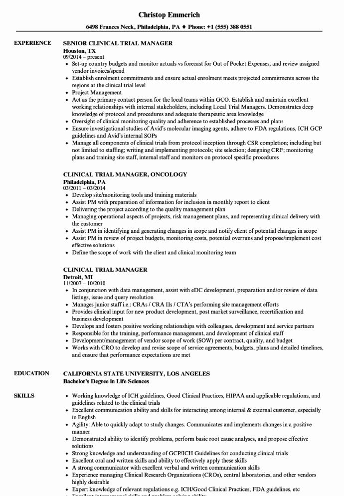 Research Assistant Job Description Resume Fresh The Example Clinical Data Manager Resume Ac In 2020 Good Resume Examples Resume Objective Examples Medical Coder Resume