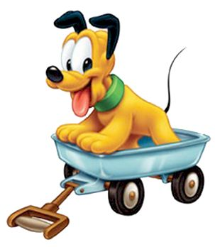 Baby Pluto in Wagon