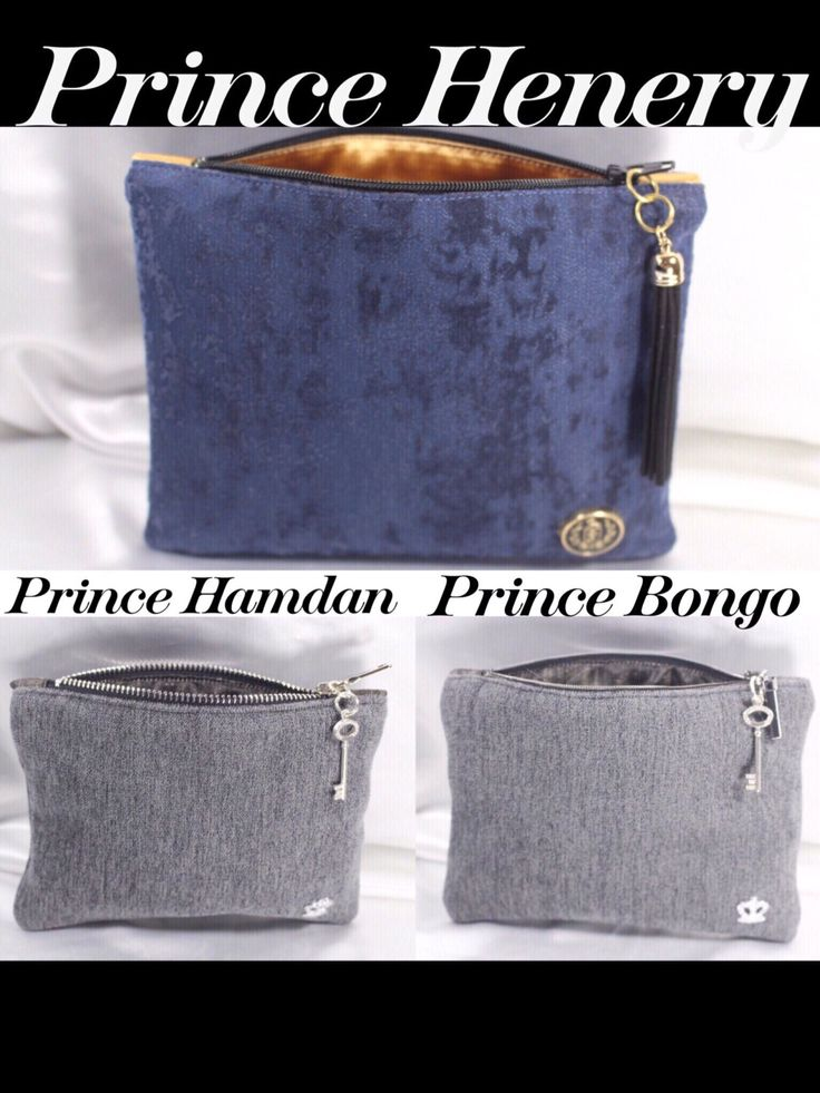 Princes Henry Hamdan Bongo zipper pouch/gifts for him/new gift for dad/birthday gift/dad gift  size 7.5x5.5 handmade by R.MarcellCollections by RMarcellCollections on Etsy