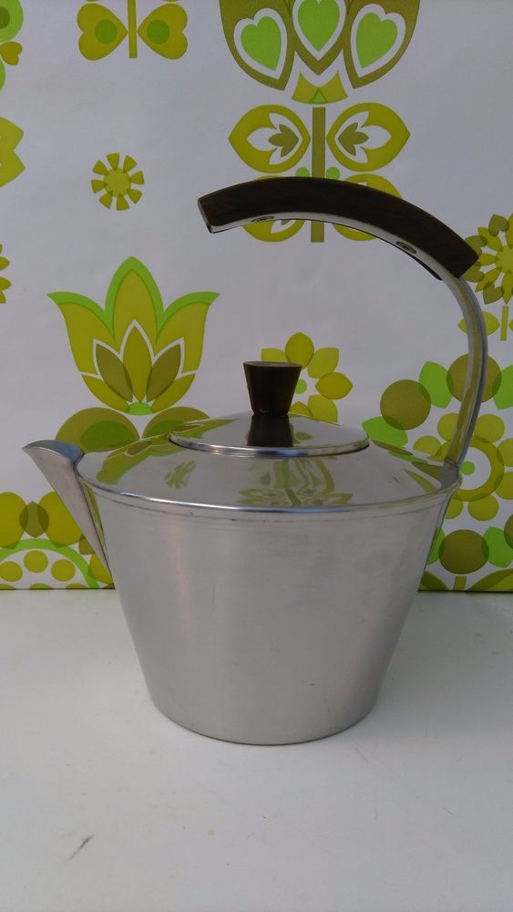 Amazing Midcentury Vintage Danish Stainless Steel and Rosewood Teapot (09)