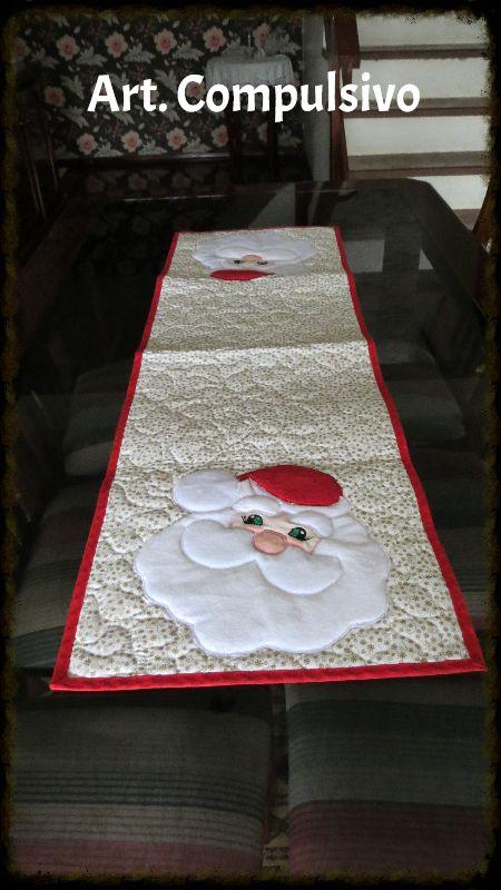 Trilho de mesa Papai Noel