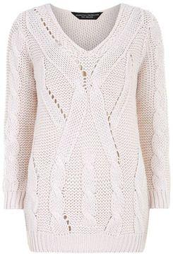 Blush v neck jumper on shopstyle.com