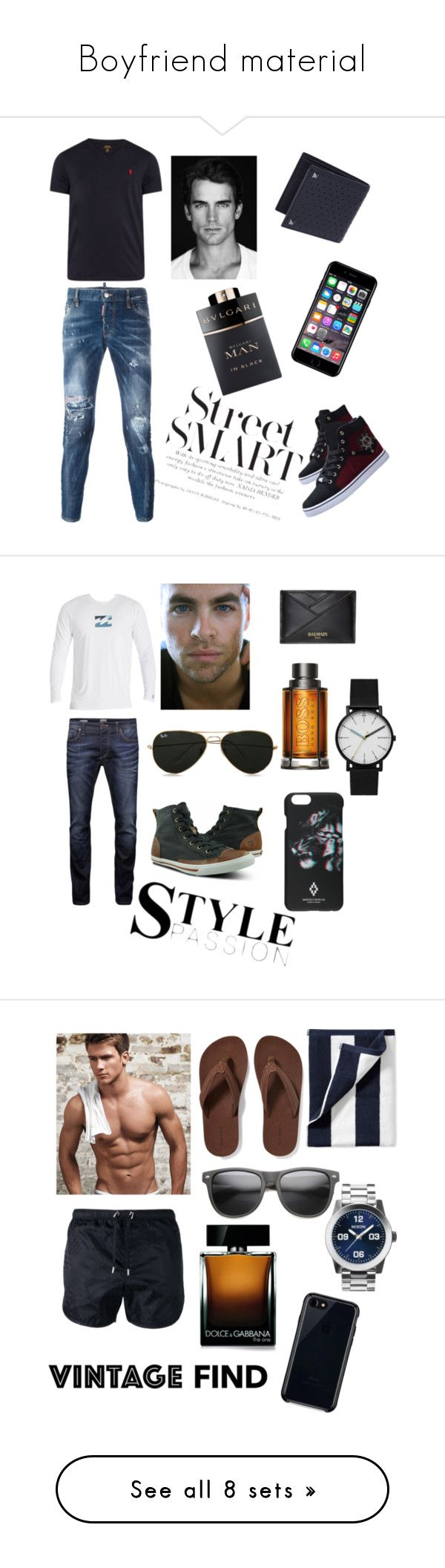 """Boyfriend material"" by alligirl318 ❤ liked on Polyvore featuring Polo Ralph Lauren, Dsquared2, Off-White, Valentino, Bulgari, men's fashion, menswear, Billabong, Jack & Jones and Burnetie"