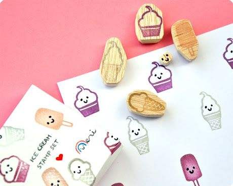 Memi The Rainbow: Ice cream stamps set summer giveaway