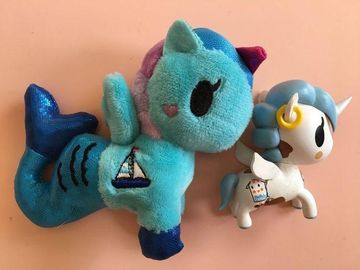 Lot of 2: Tokidoki Unicorno Series 1 blind box & Mermicorno blind bag plush #Tokidoki