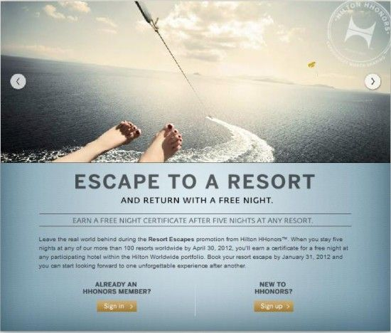 Jan 31 booking deadline for Hilton Resort Escapes Free Night Promo - Loyalty Traveler - Loyalty Traveler