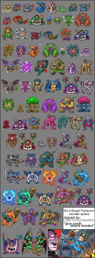 Dragon Quest 2 Sprite Sheets - SNES | Realm of Darkness.net | Dragon Quest & Dragon Warrior Fan Site and Shrine