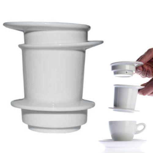 Walküre Porzellan Tassenfilter weiß Dauerfilter Kaffeefilter Kaffeebereiter