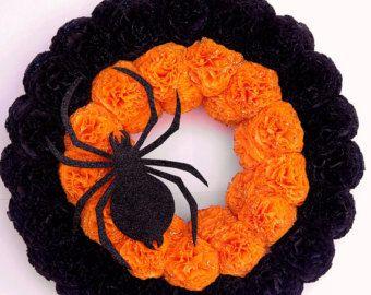 Halloween krans zwarte kat krans Halloween decoraties deur