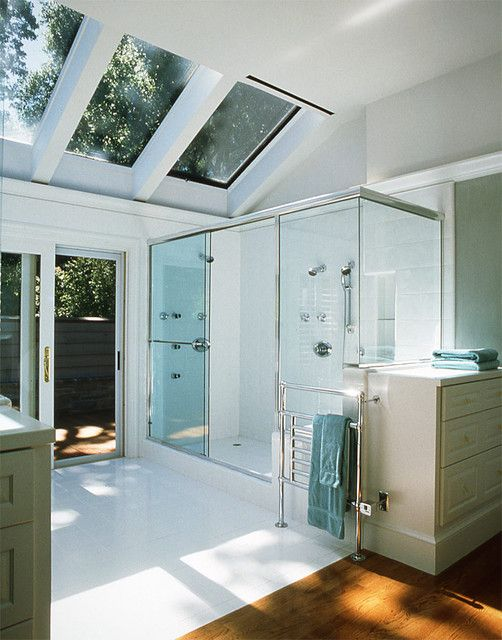 Velux Skylight Sizes Bathroom Traditional with Double Shower Dresser Glass Shower Enclosure Sky Lights Sliding