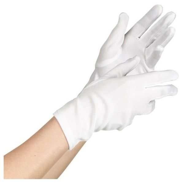 Womens Short White Gloves ($4.99) ❤ liked on Polyvore featuring accessories, gloves, short gloves, short white gloves and white gloves
